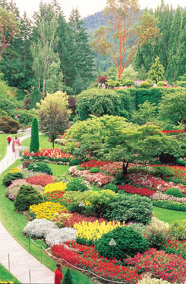 The Butchart Gardens in Victoria BC