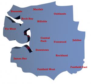 Victoria City Neighbourhoods Map