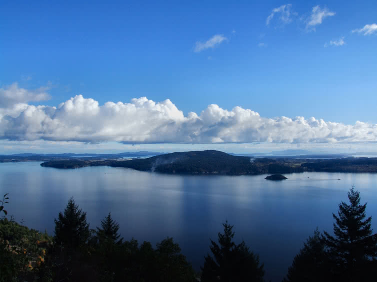 View from Mill Bay of Saanich Peninsula and Deep Cove courtesy of Tourism Victoria