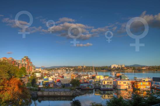 Women love Fisherman's wharf in Victoria BC