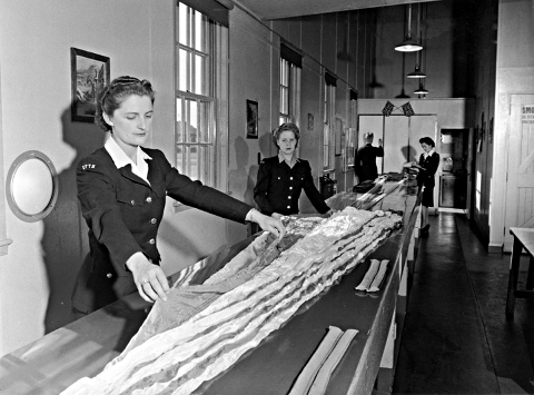 Women Packing Parachutes for WW2