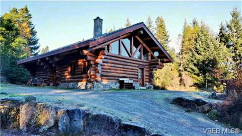 Becher Bay Sooke Log Home