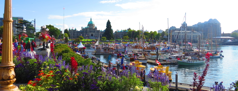 downtown Victoria BC inner harbour